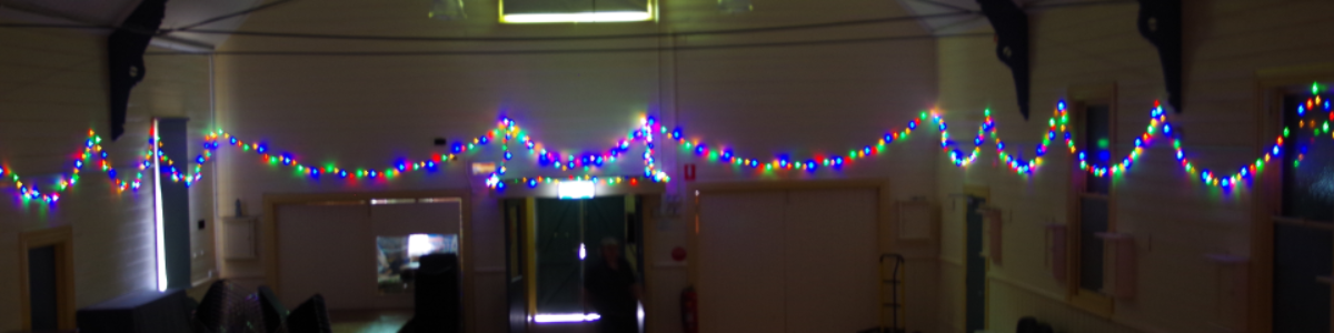 Hall Christmas lights